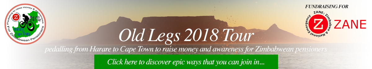 Old Legs 2018 Tour Pedaling from Harare to Cape Town to raise money and awareness for Zimbabwean pensioners