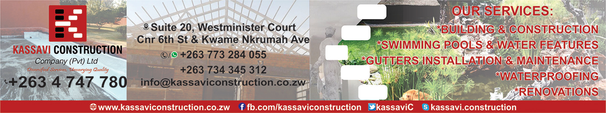 Kassavi Construction (Pvt) Ltd We offer Construction and Allied services.