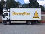 The Cheeseman lorry branding