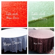 Round table cloth brown