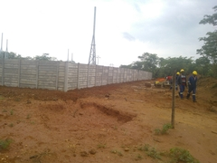 UNKI Housing Main Substation Durawall Construction