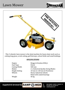 Sprinkaan 3 Wheeler Scub Cutter/Mower