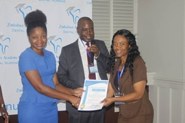 Certificate of Attendance hand over