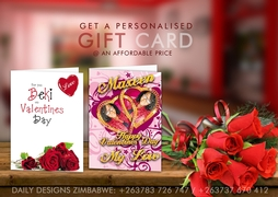 Valentine Personalized Gift Cards