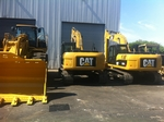 323D Excavators in the workshop